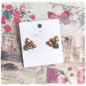 NWT! Kate Spade Picnic Perfect Pave Bee Earrings